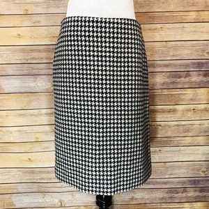 Ralph Ralph Lauren Vintage Houndstooth Wool Skirt
